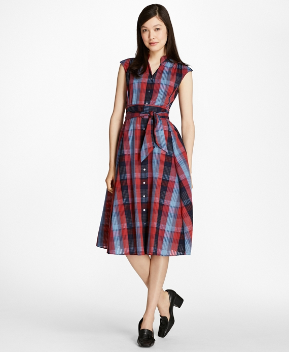 Plaid Cotton Shirtdress Multi