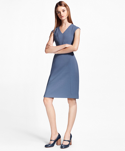 Crepe Satin Sheath Dress