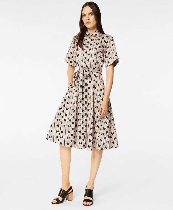 Daisy Print Cotton Sateen Shirt Dress by Brooks Brothers