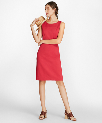 Ponte Knit Sleeveless Sheath Dress
