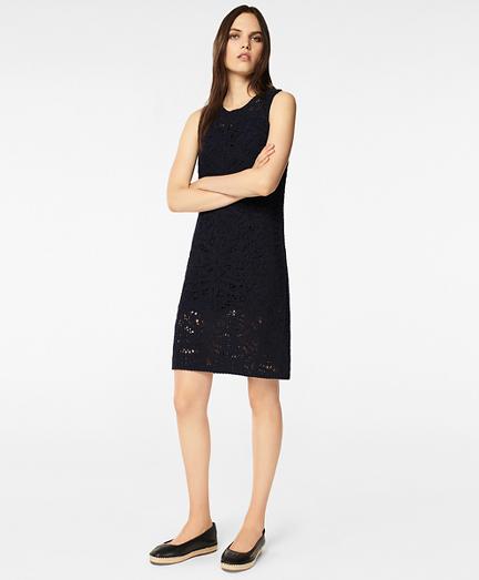 Crocheted Cotton Shift Dress