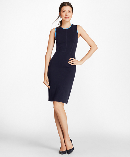 Milano-Knit Merino Wool Sheath Dress