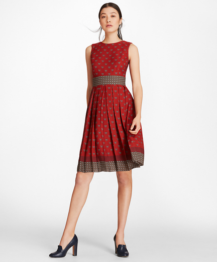 Foulard Silk Georgette Empire-Waist Dress