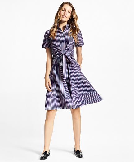 Striped Cotton Poplin Shirt Dress