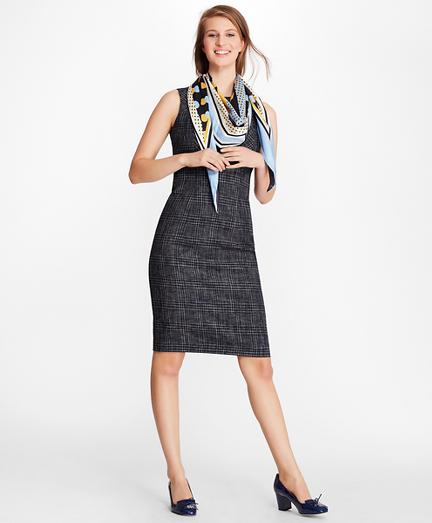 Plaid Tweed Sheath Dress