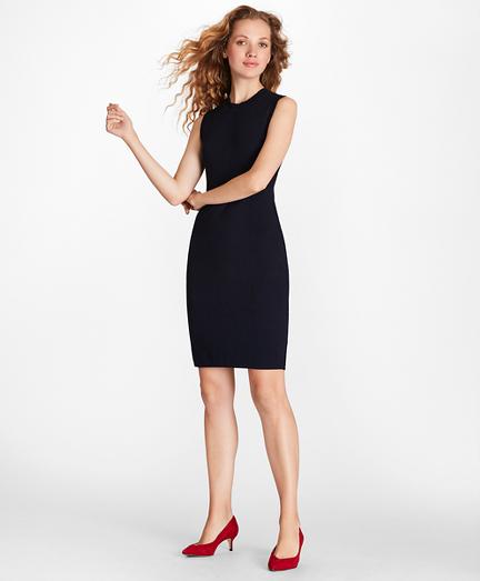 Pointelle-Knit Sheath Dress