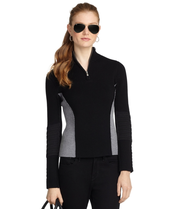 Merino Half-Zip Ski Sweater Black