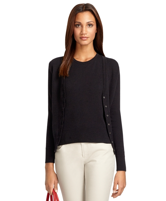 V-Neck Cashmere Cardigan Black