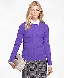 Cashmere Cable Knit Crewneck Sweater