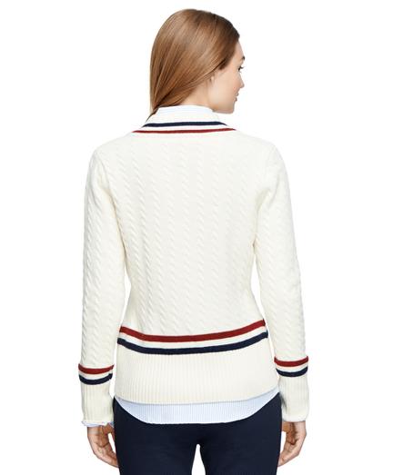 Womens Lambs Wool Tennis Sweater