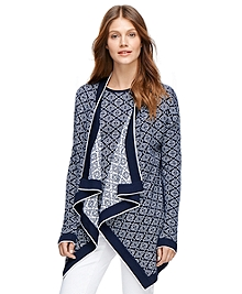 Supima® Cotton Jacquard Cardigan
