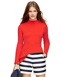 Supima® Cotton Mockneck Sweater