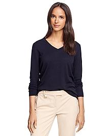 Saxxon® Wool V-Neck Sweater