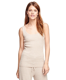 Cashmere Sleeveless Ribbed Shell