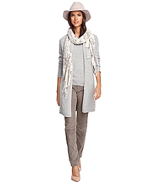 Cashmere Cable Long Cardigan