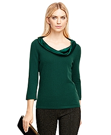 Cashmere Drape Neck Sweater