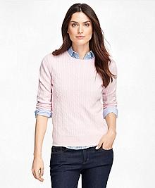 Cashmere Cable Crewneck Sweater