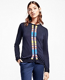 Multi-Stripe Supima® Cotton Cardigan