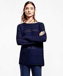 Horizontal Cable Boatneck Sweater