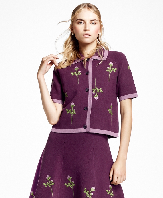 Embroidered Floral-Motif Cardigan