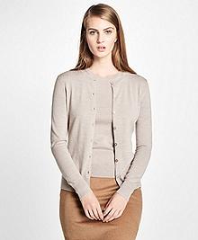 Long-Sleeve Saxxon Wool Cardigan