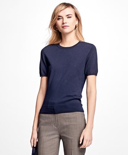 Short-Sleeve Saxxon Wool Shell