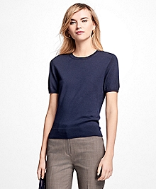 Short-Sleeve Saxxon Wool Shell
