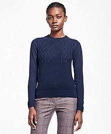 Saxxon Wool Crew Neck Sweater