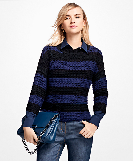 Merino Wool Cropped Rugby Sweater