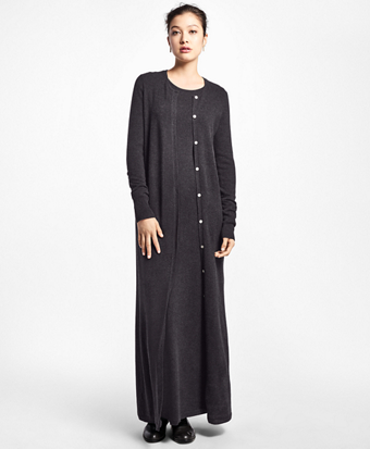 Cashmere Full-Length Duster Cardigan