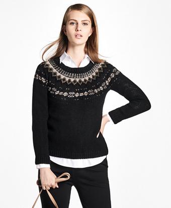 Wool Fair Isle Crewneck Sweater