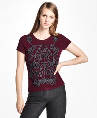 Cashmere Soutache-Embroidered Sweater