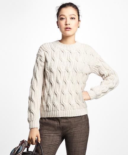 Alpaca Handknit Cable Sweater