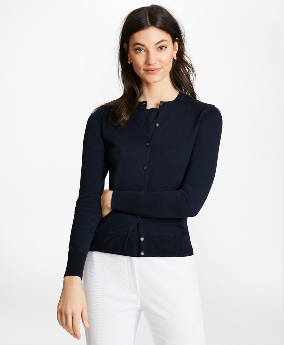 Lightweight Supima® Cotton Cardigan Navy