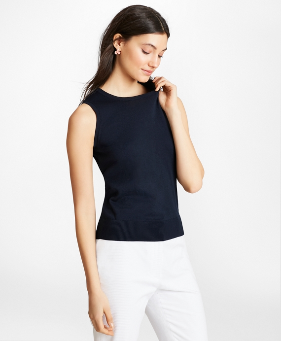 Lightweight Supima® Cotton Shell Navy