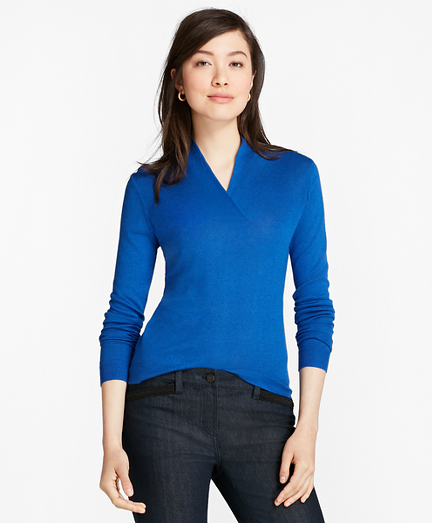 Silk-Cashmere Shawl-Collar Sweater