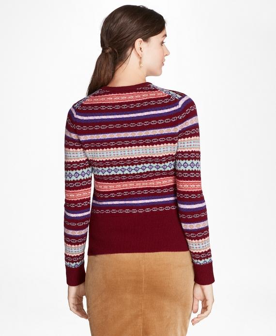 Lambswool Fair Isle Sweater - Brooks Brothers
