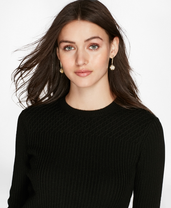 Mixed-Stitch Merino Wool Sweater