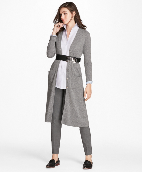 Cashmere Duster Cardigan Grey