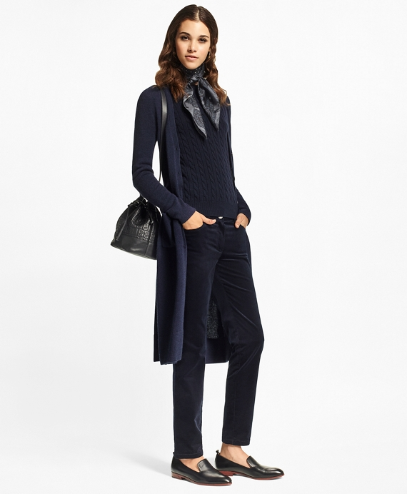 Cashmere Duster Cardigan Navy