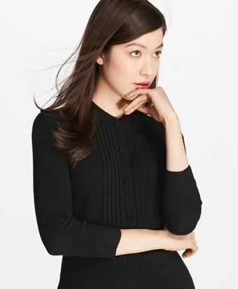 Cashmere Tuxedo Sweater