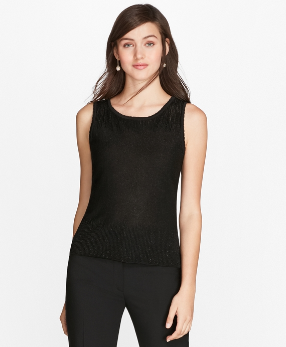 Shimmer Knit Shell Black