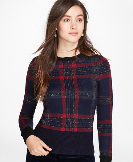 Tartan Merino Wool-Blend Sweater