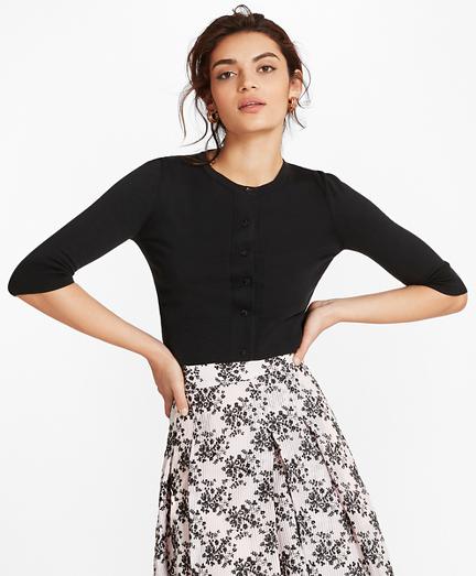 Cropped Supima® Cotton Cardigan