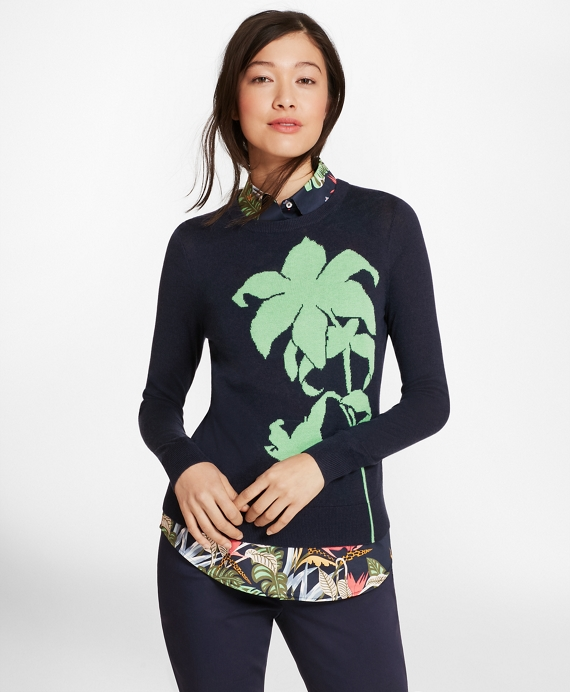 Floral Silk-Cashmere Sweater