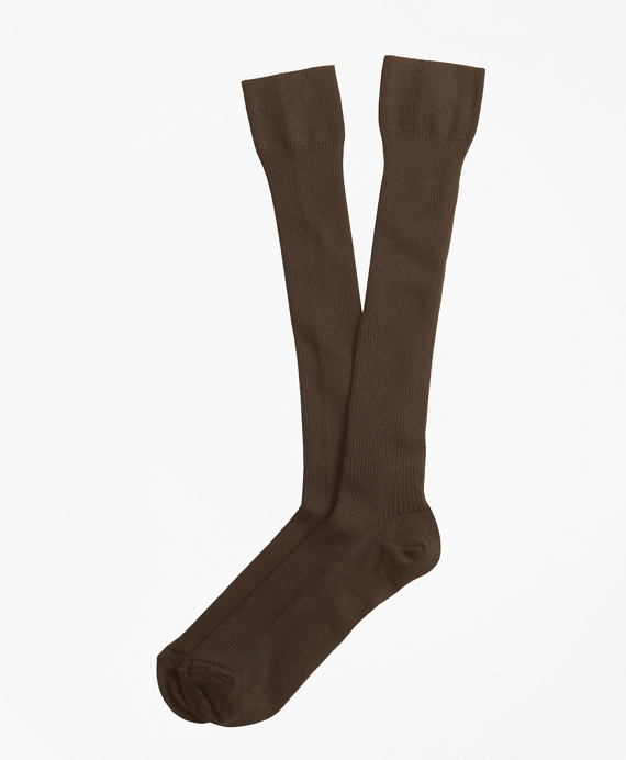 Knee High Socks Brown