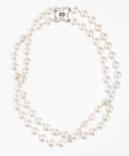 Double-Strand Glass Pearl Necklace