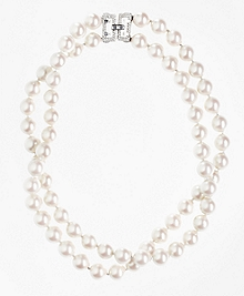Two-Row 12mm Glass Pearl Nested Necklace