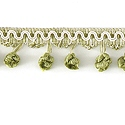 "DECORATIVE TRIM 2 1/2"" BALL FRINGE CCR 92124"