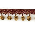"DECORATIVE TRIM 2 1/2"" BALL FRINGE WGO 92154"